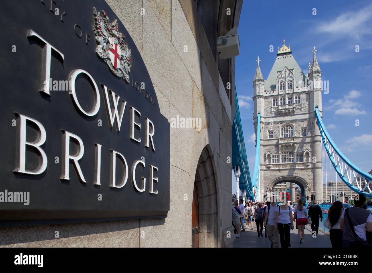 Tower Bridge, London, England, United Kingdom, Europe - Stock Image