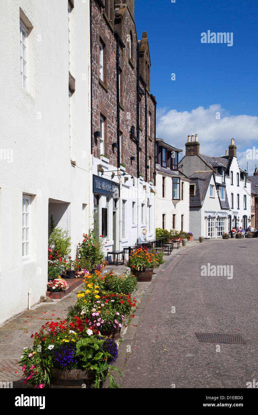 Hotels along the Quayside at Stonehaven Harbour, Aberdeenshire, Scotland, United Kingdom, Europe - Stock Image