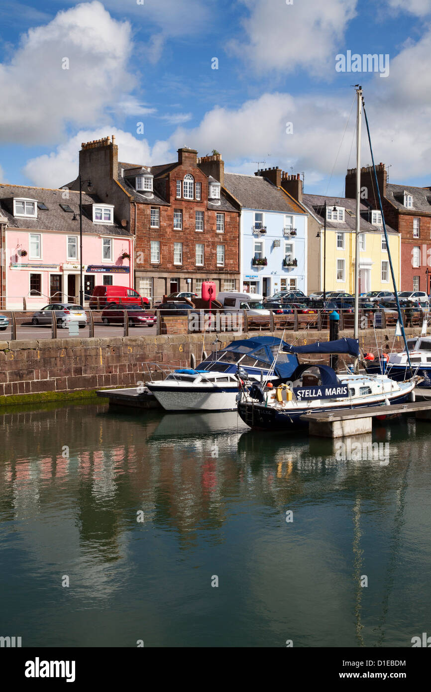 Yachts in the Harbour at Arbroath, Angus, Scotland, United Kingdom, Europe - Stock Image