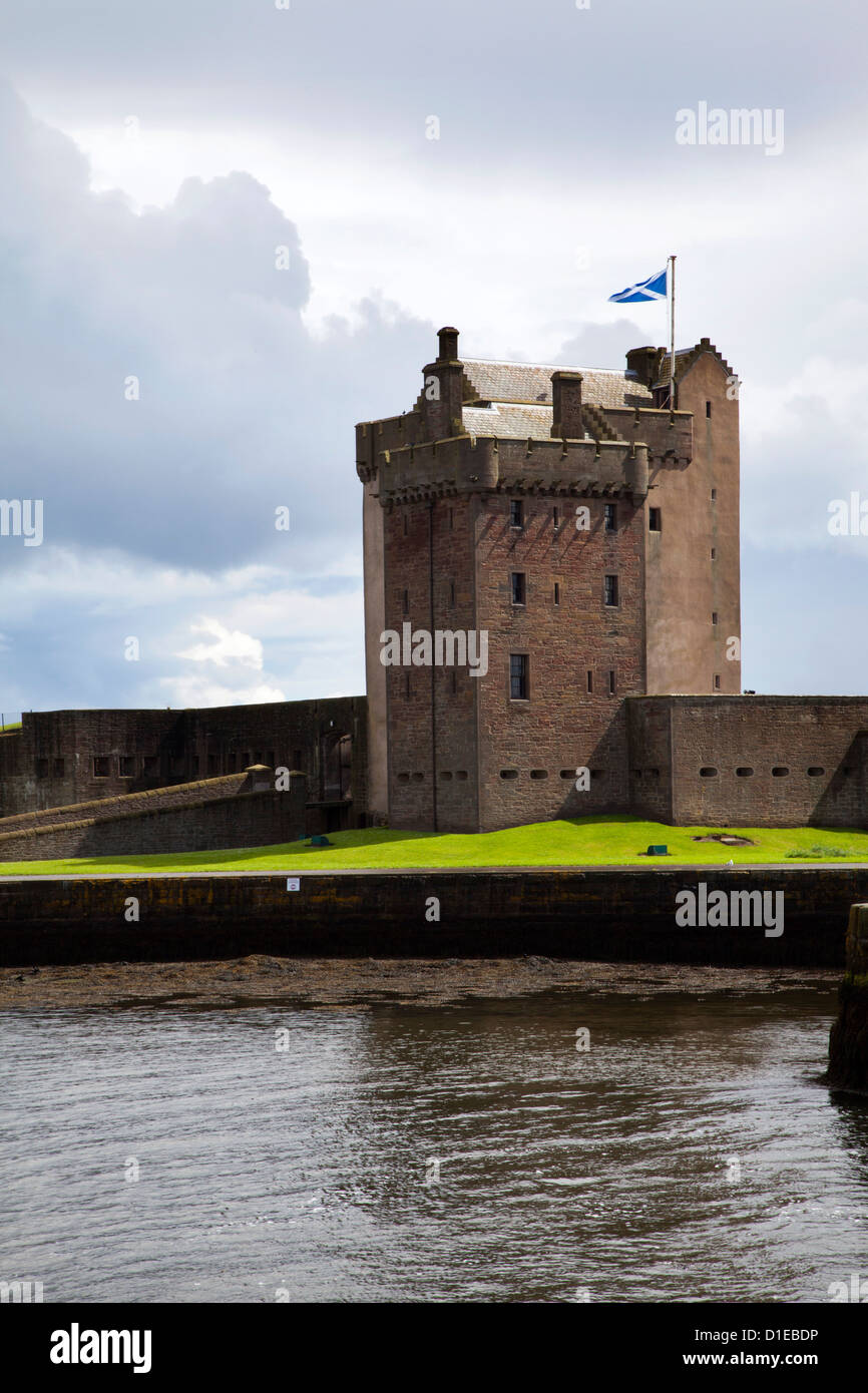 Broughty Castle Museum at Broughty Ferry, Dundee, Scotland, United Kingdom, Europe - Stock Image