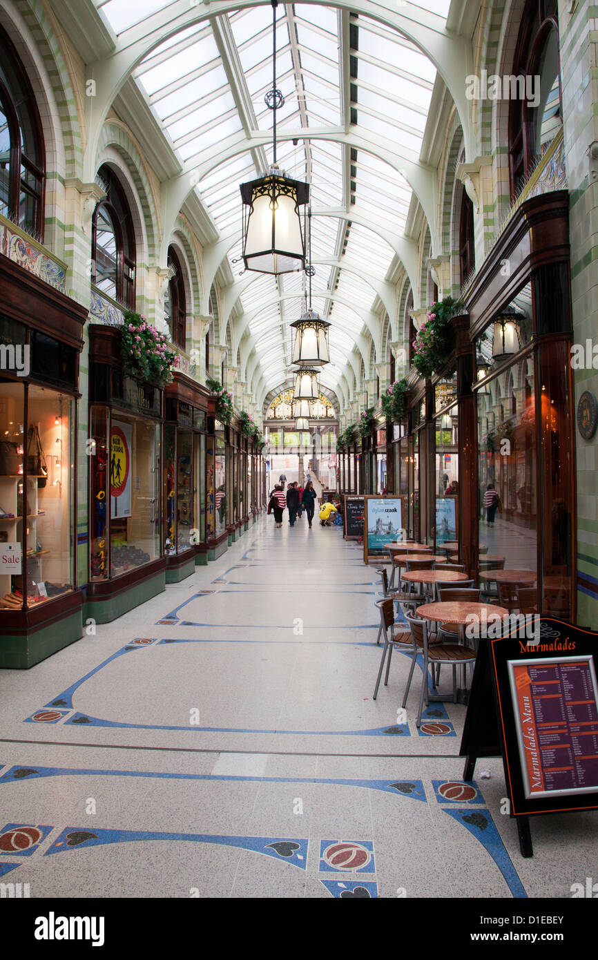 Royal Arcade, Norwich, Norfolk, England, United Kingdom, Europe - Stock Image
