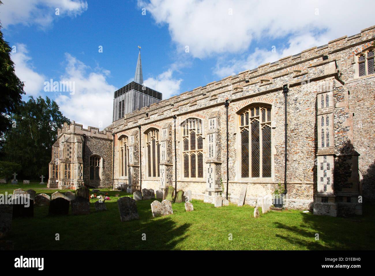 Church of St. Mary Magdelene, at Bildeston, Suffolk, England, United Kingdom, Europe - Stock Image