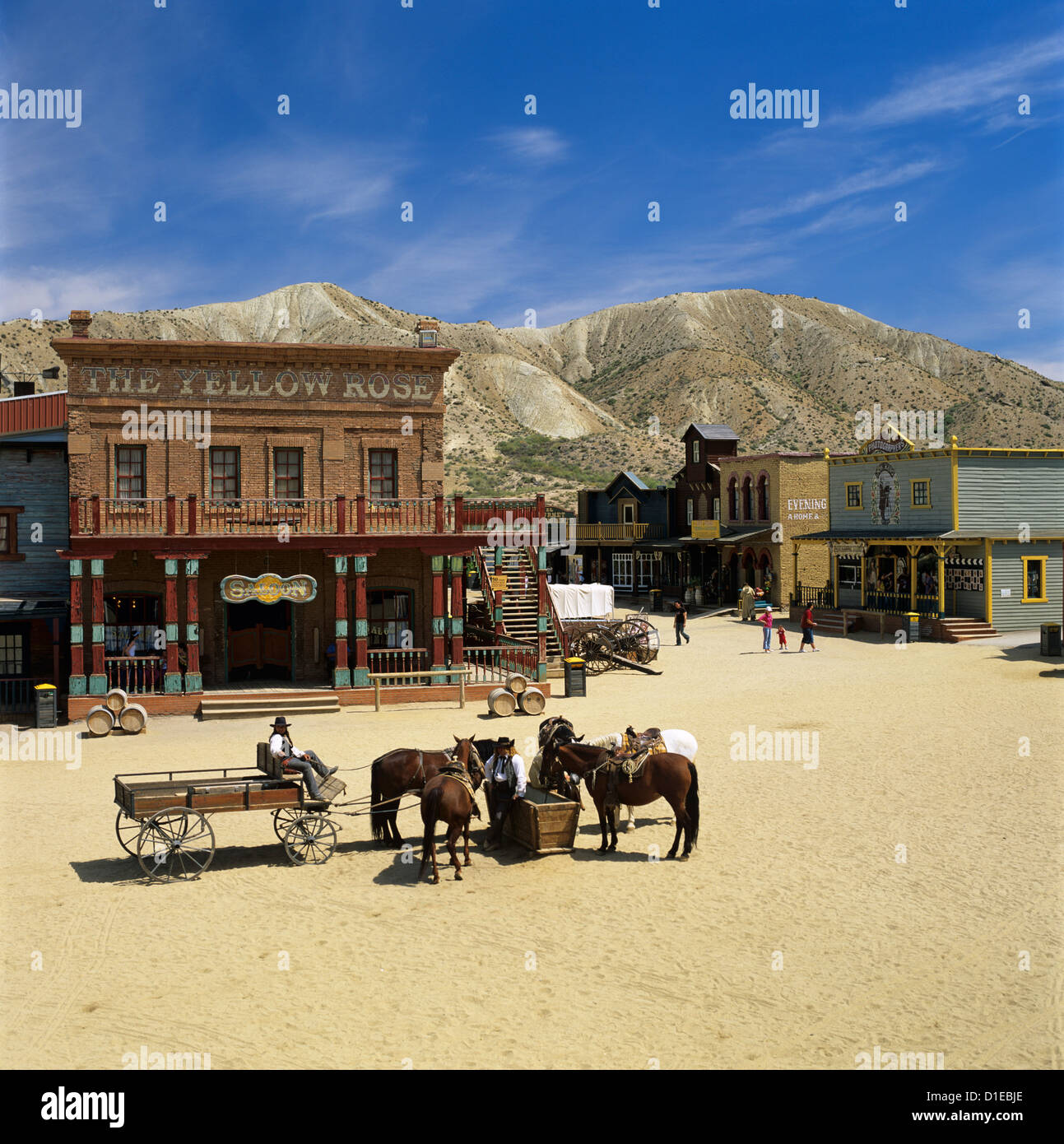 Mini Hollywood (Spaghetti Western film set), near Tabernas, Andalucia, Spain, Europe - Stock Image