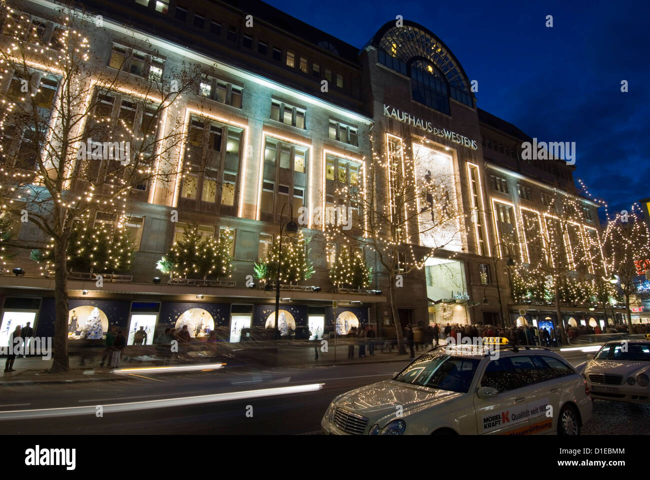 Ka De Ve Department Store at Christmas, Berlin, Germany, Europe - Stock Image