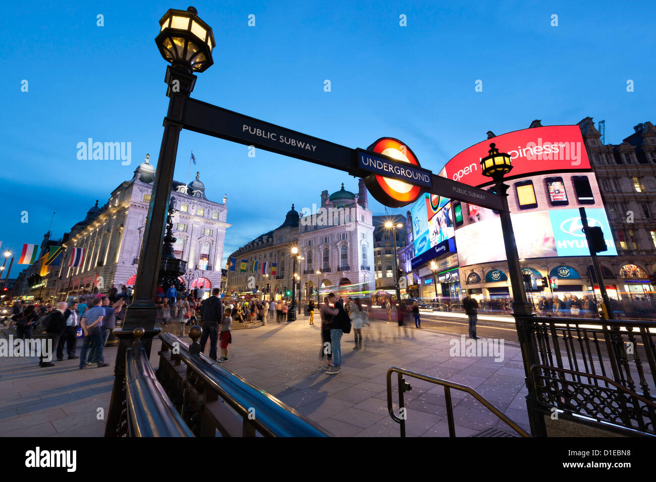 Piccadilly Circus, London, England, United Kingdom, Europe - Stock Image