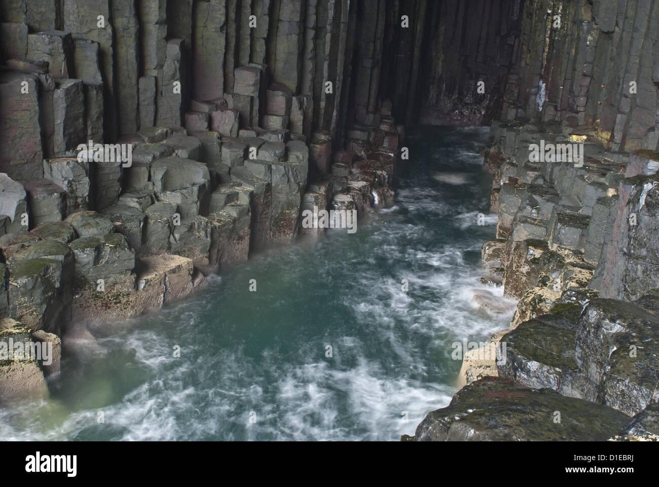 Fingal's Cave, Isle of Staffa, Inner Hebrides, Scotland, United Kingdom, Europe Stock Photo