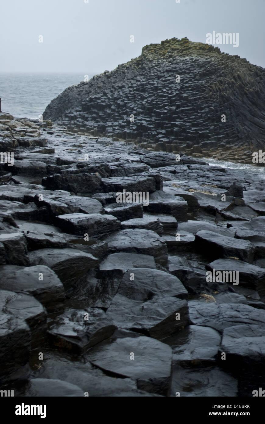 Fingal's Cave, Isle of Staffa, Inner Hebrides, Scotland, United Kingdom, Europe - Stock Image
