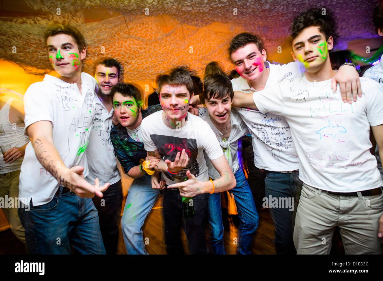 night club partying girls and boys stock photos night club