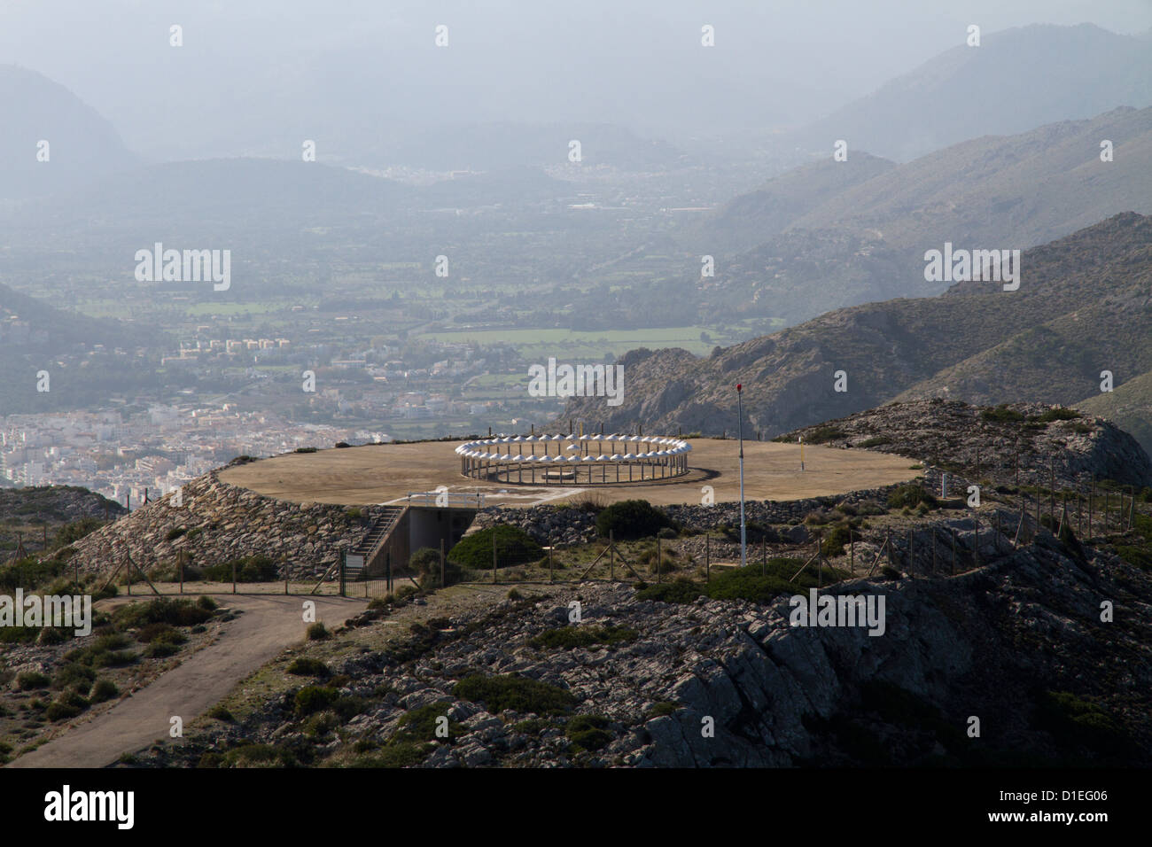 aeronautical control communication platform Formentor Mallorca Majorca Balearic islands Spain Mediterranean - Stock Image