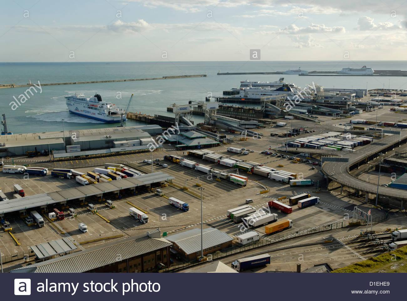 Eastern Docks of Port of Dover Stock Photo