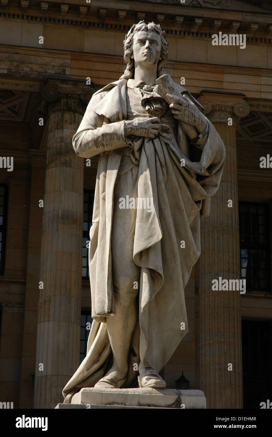 Johann Christoph Friedrich von Schiller (1759-1805). German poet, philosopher, historian, and playwright. Monument. - Stock Image