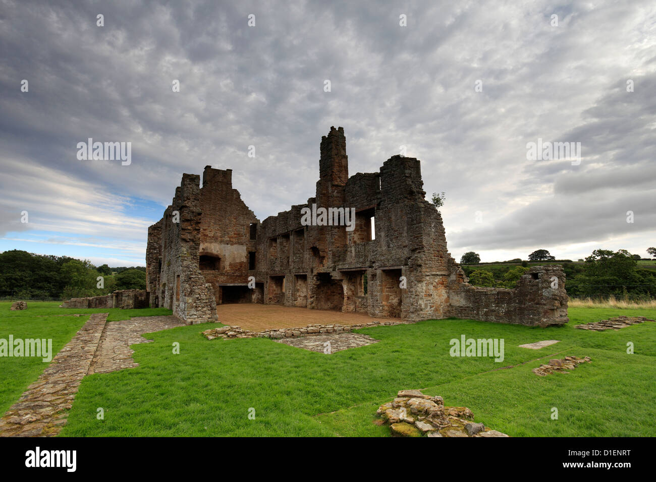 The ruins of Egglestone Abbey, near Barnard Castle Town, Teesdale, Durham County, England, Britain, UK - Stock Image