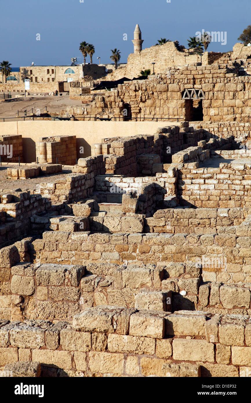 Ruins of Ceasarea near Tel Aviv, Israel - Stock Image