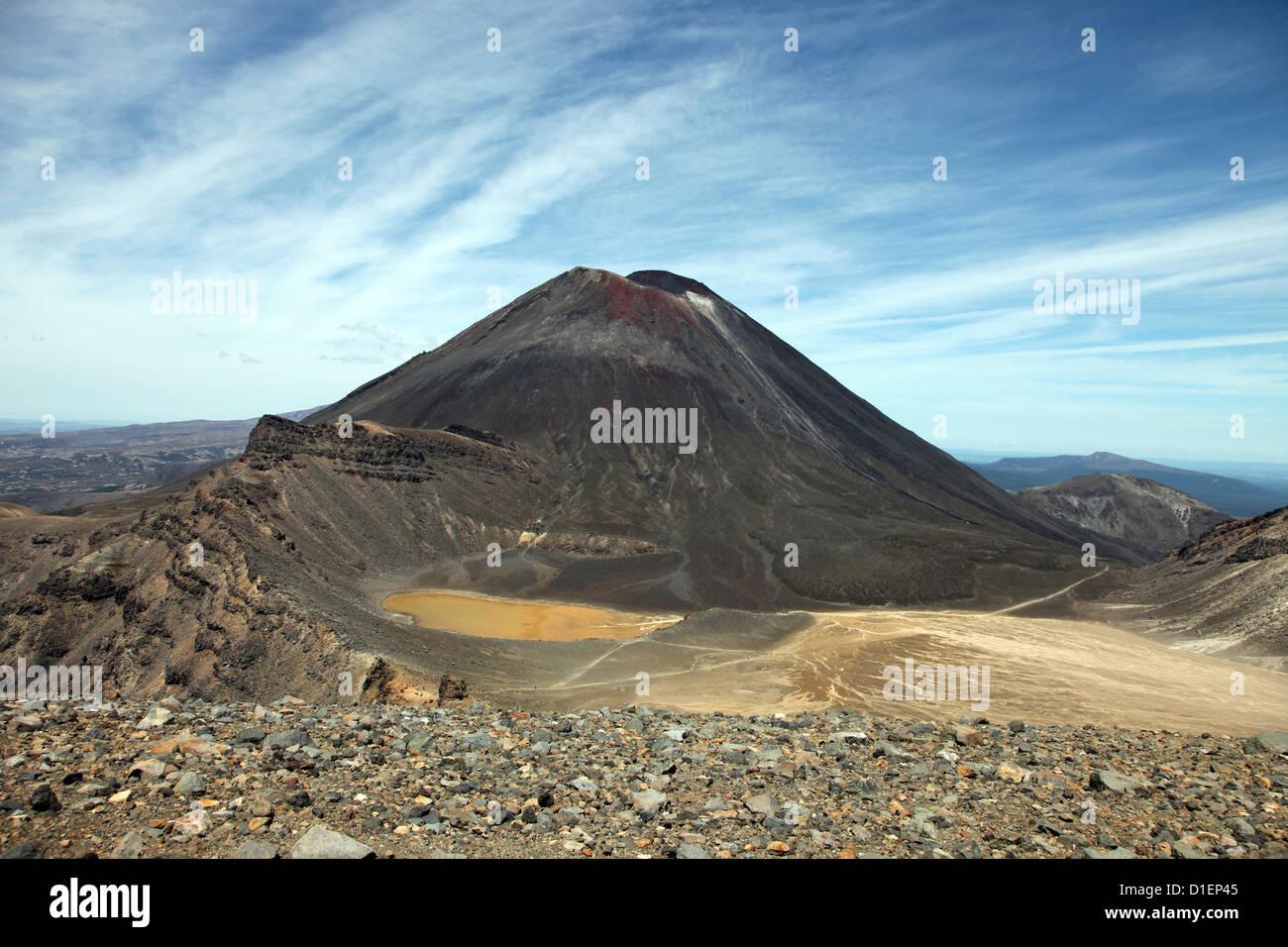 Mount Tongariro, North Island, New Zealand - Stock Image