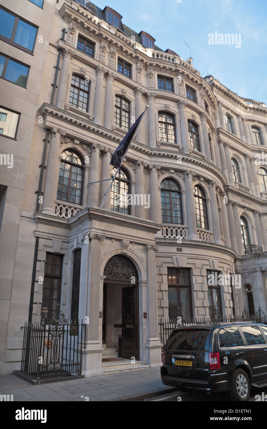 The Royal Aeronautical Society, 4 Hamilton Place, Mayfair, London, UK. - Stock Image