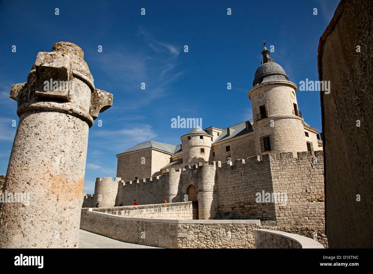 Castle Historical Archive Simancas Valladolid Castilla Leon Spain - Stock Image