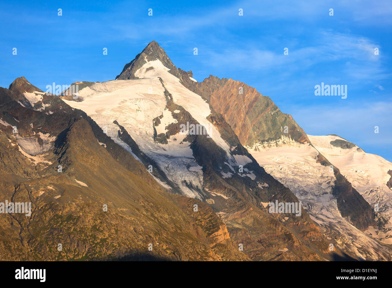 Morning mood at the Grossglockner, Hohe Tauern, Austria Stock Photo