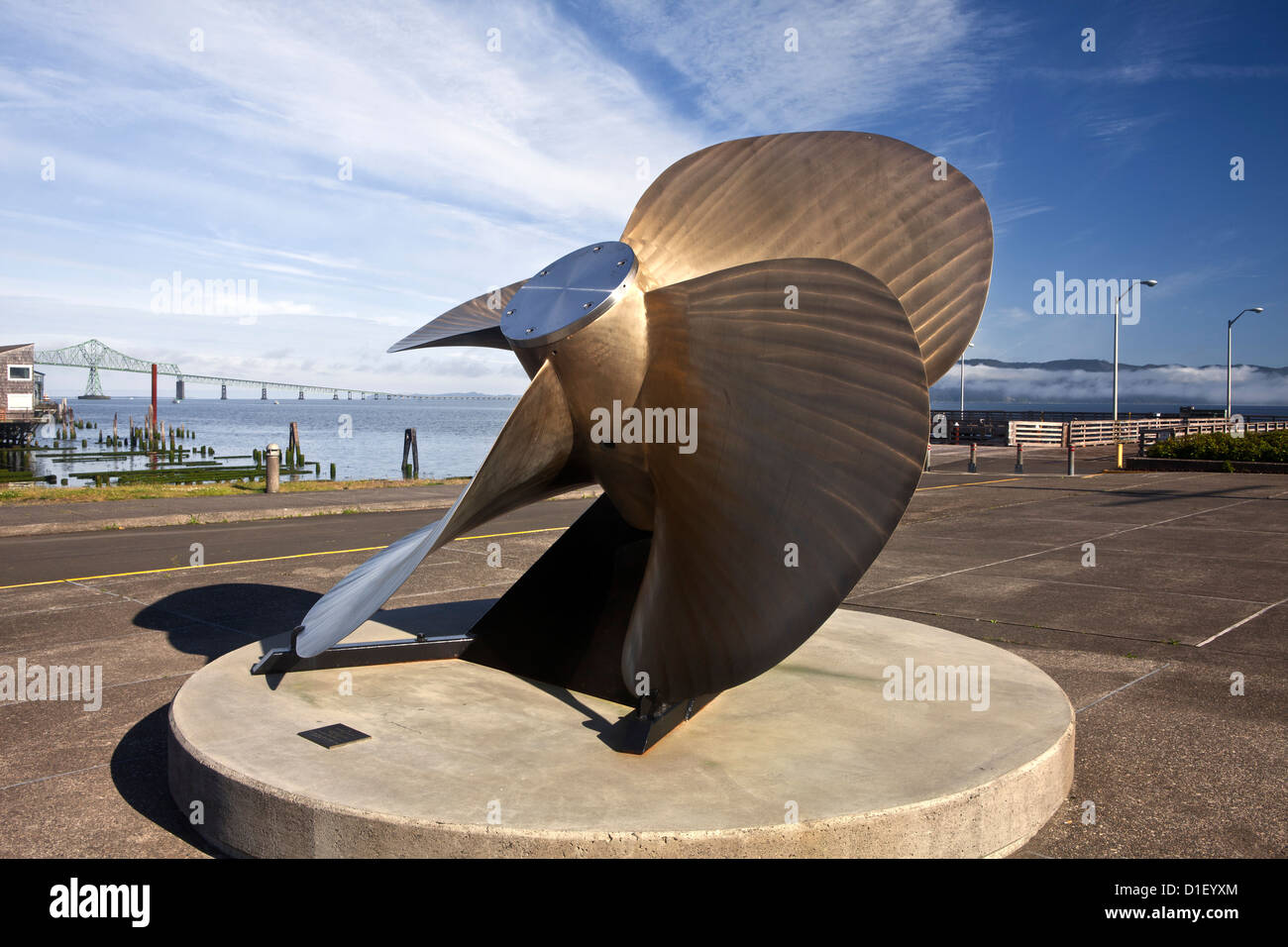 OR00930-00...OREGON - Large prop outside the Columbia River Maritime Museum in Astoria. - Stock Image