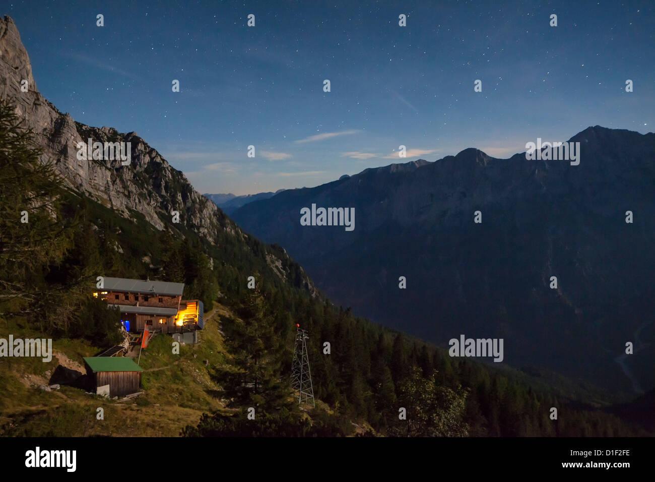 Refuge Buchsteinhaus in the Gesaeuse above the Enns Valley, Styria, Austria - Stock Image