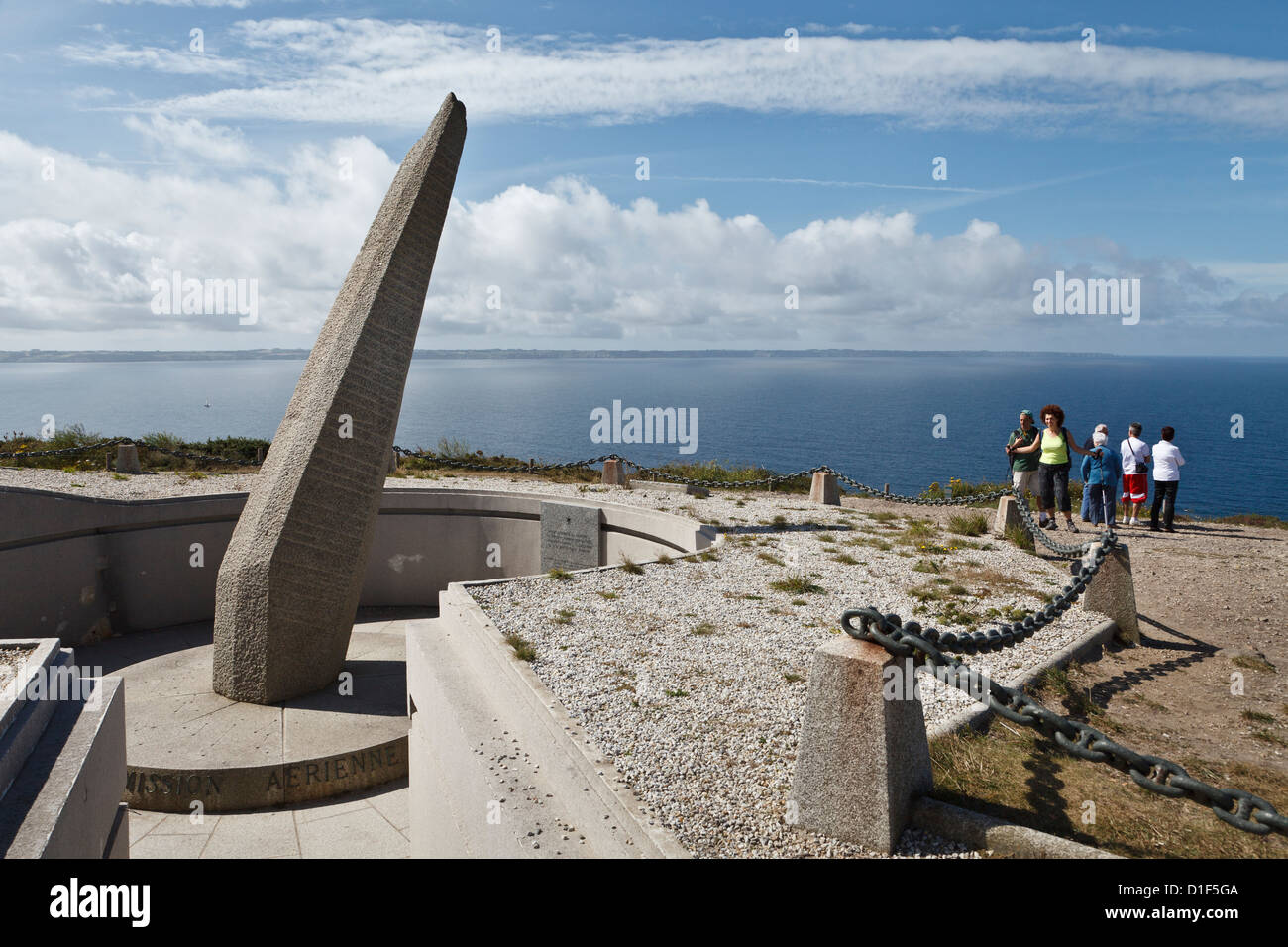 Memorial de L'Aéronautique Navale, Cap de la Chèvre, Finistère, Brittany, France - Stock Image