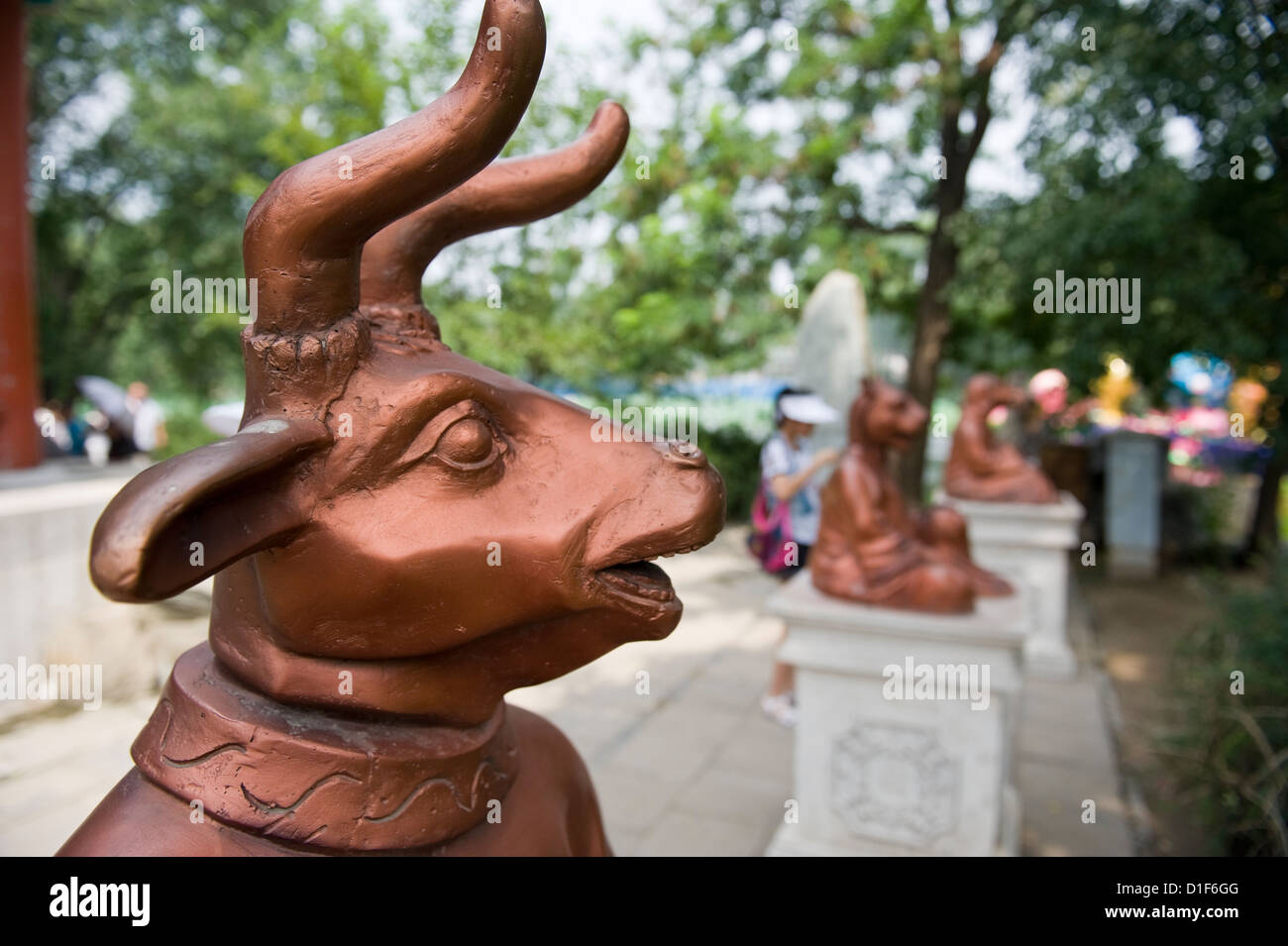 Bronze Chinese zodiac Ox Stock Photo: 52580208 - Alamy