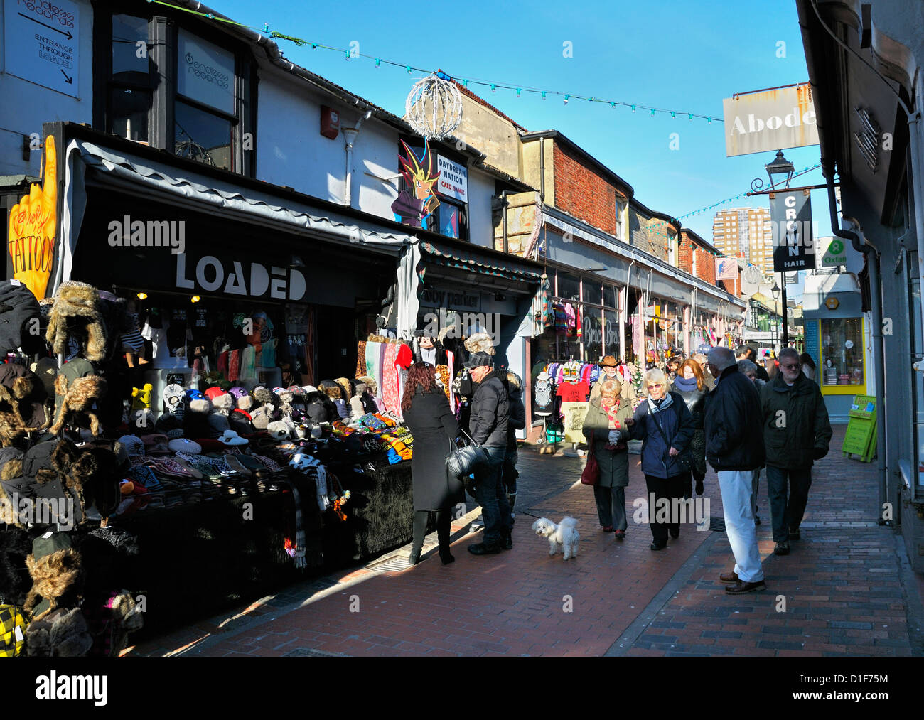 North Laines, Brighton, East Sussex, UK - Stock Image