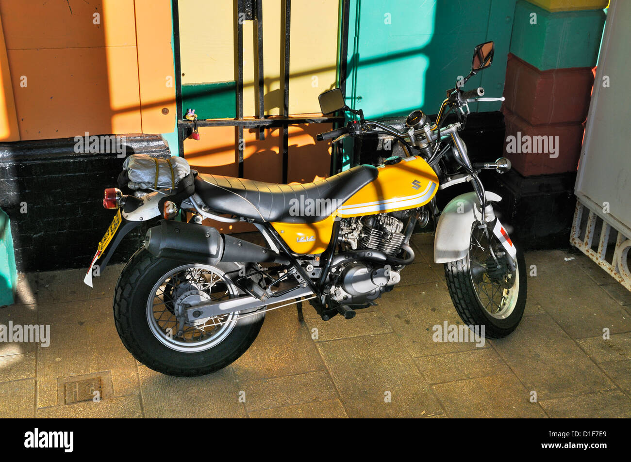 Suzuki motorbike - Stock Image