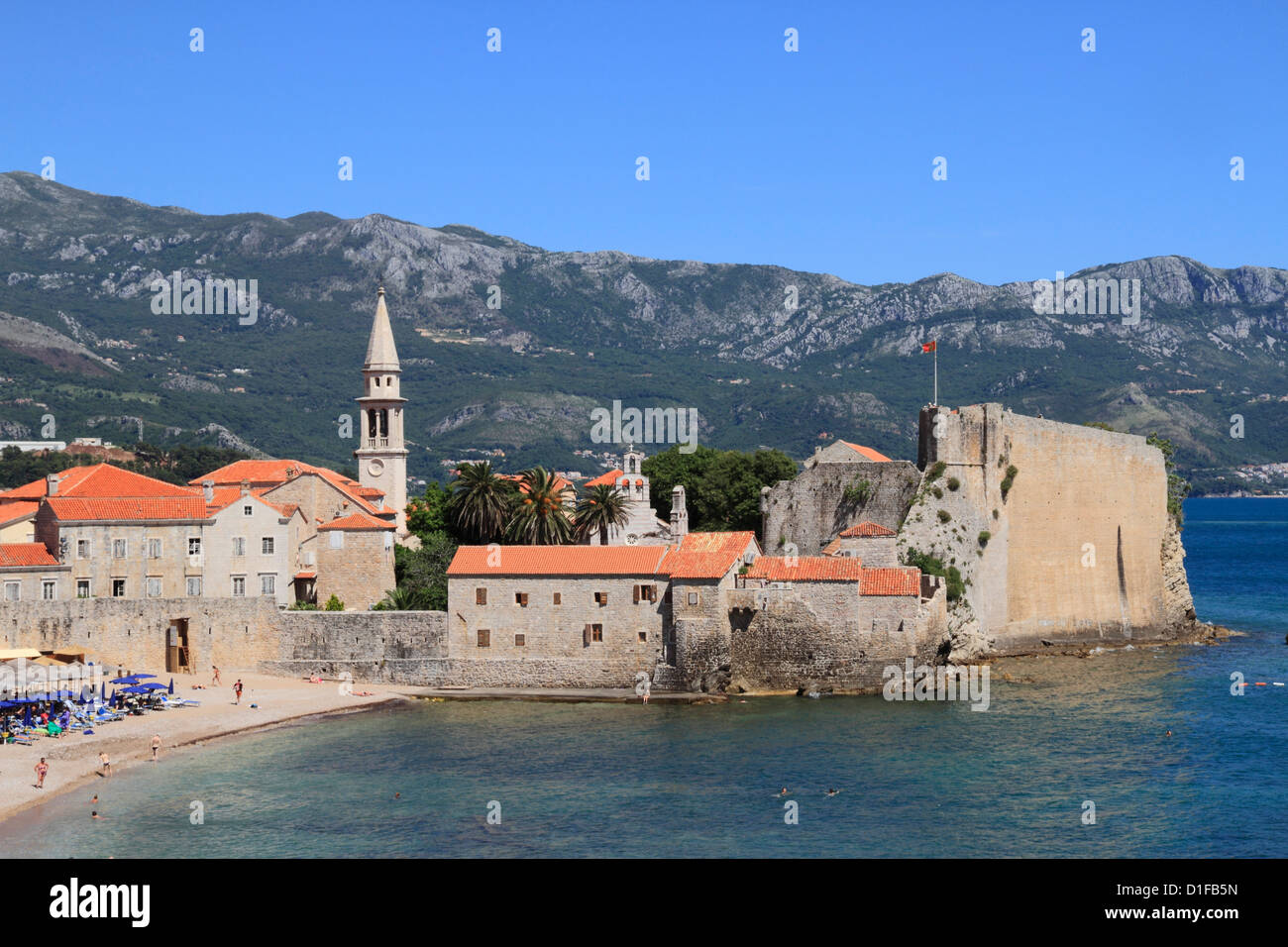 Budva old town, Montenegro, Europe - Stock Image