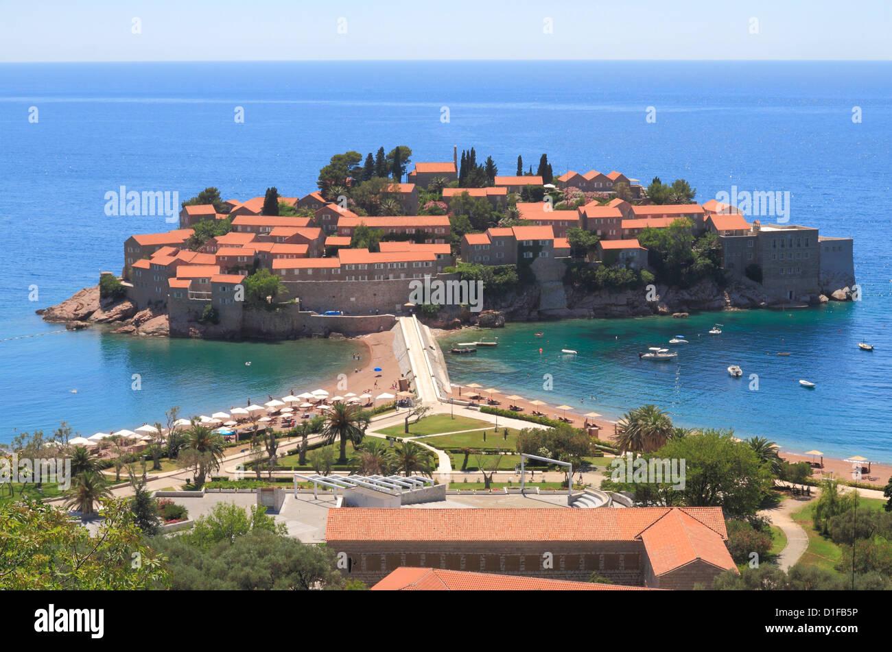 Sveti Stefan, Montenegro, Europe Stock Photo