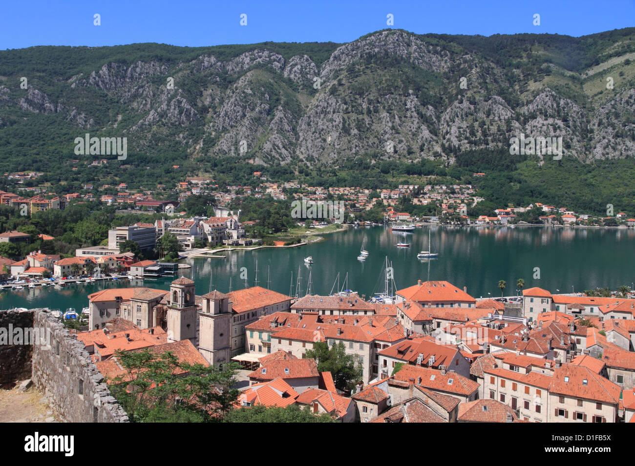 Kotor old town, UNESCO World Heritage Site, Montenegro, Europe - Stock Image