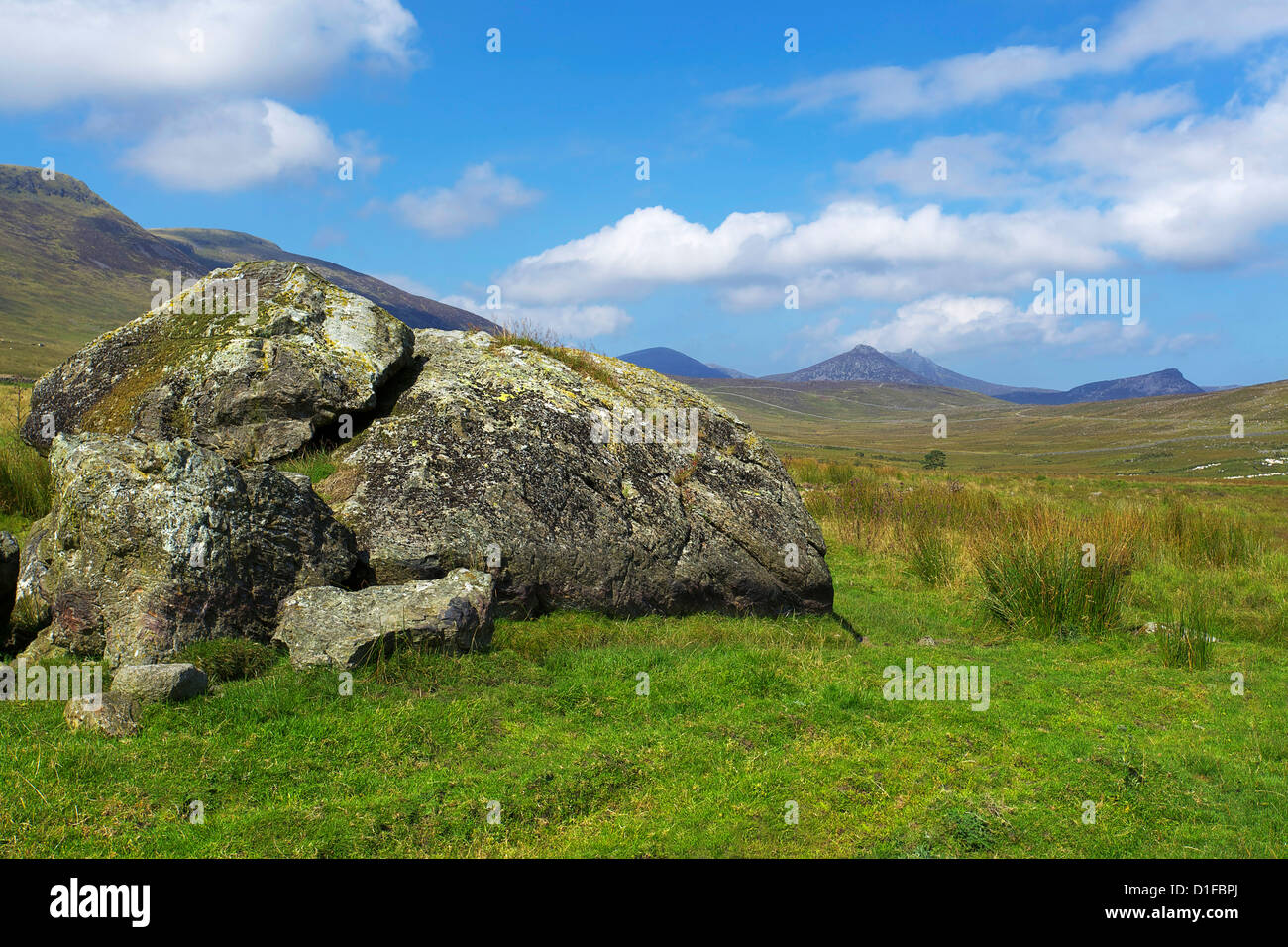 Slieve Muck, Mourne Mountains, County Down, Ulster, Northern Ireland, United Kingdom, Europe - Stock Image
