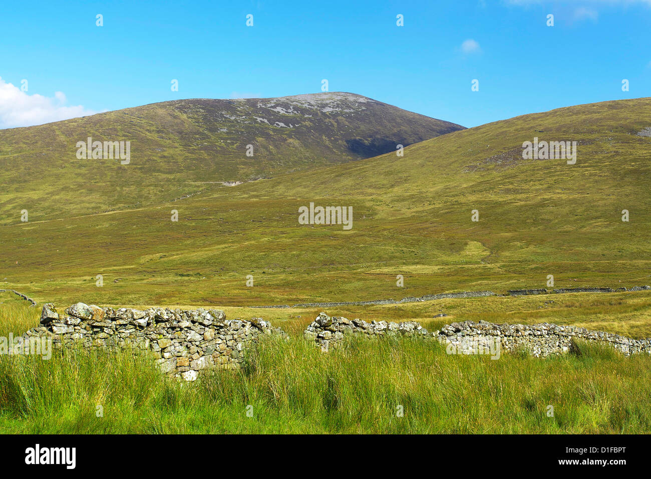 Slievenaman, Mourne Mountains, County Down, Ulster, Northern Ireland, United Kingdom, Europe - Stock Image
