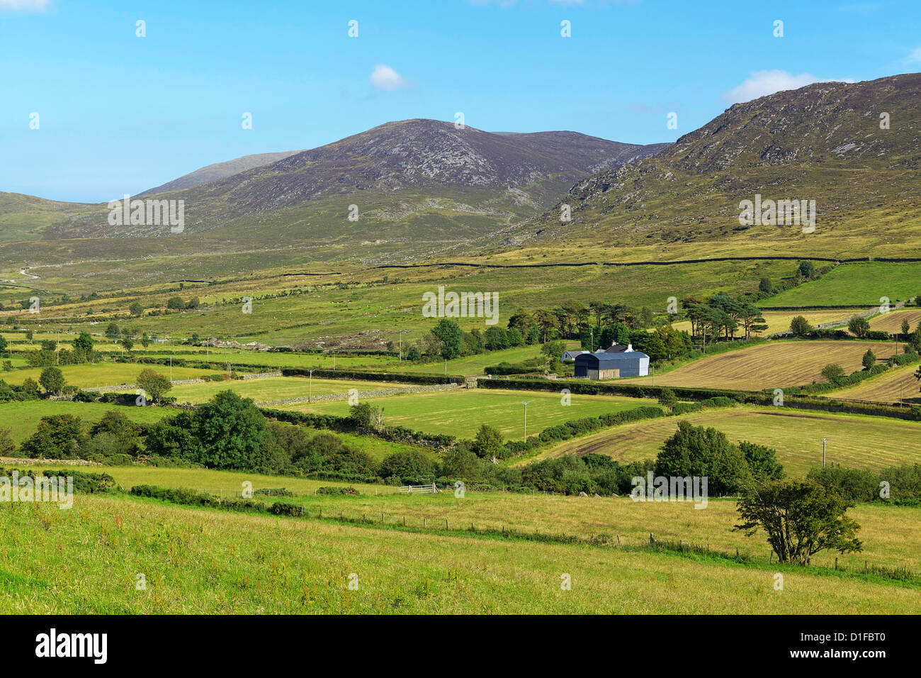 Luke's Mountain, Mourne Mountains, County Down, Ulster, Northern Ireland, United Kingdom, Europe - Stock Image