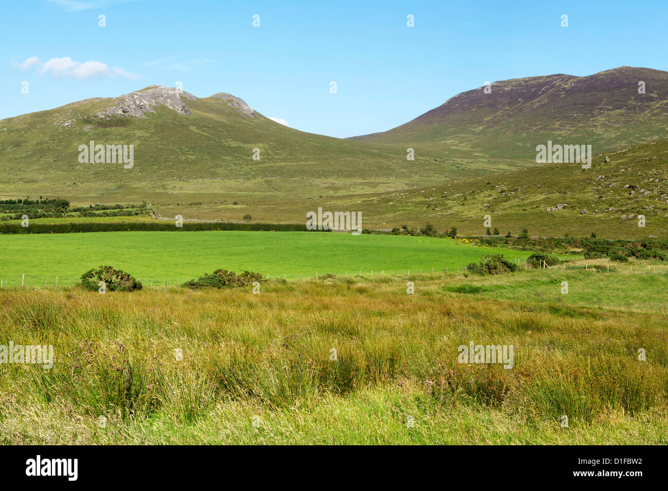 Eagle Mountain and Shanlieve, Mourne Mountains, County Down, Ulster, Northern Ireland, United Kingdom, Europe - Stock Image