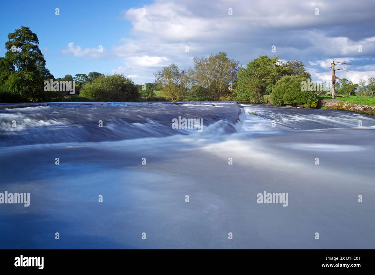 River Exe near Brampford Speke, Devon, England, United Kingdom, Europe - Stock Image