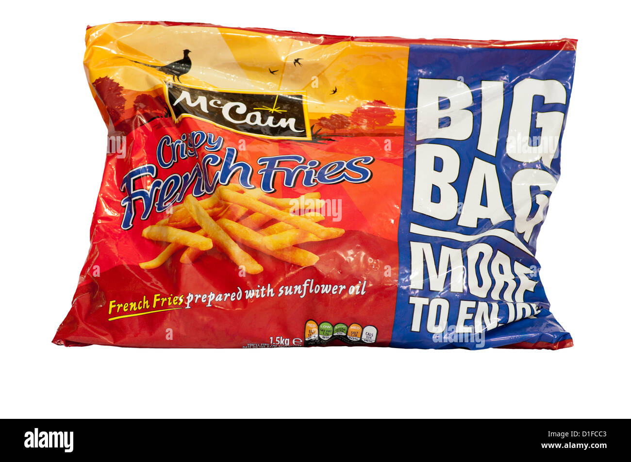 Bag Of McCain French Fries - Stock Image