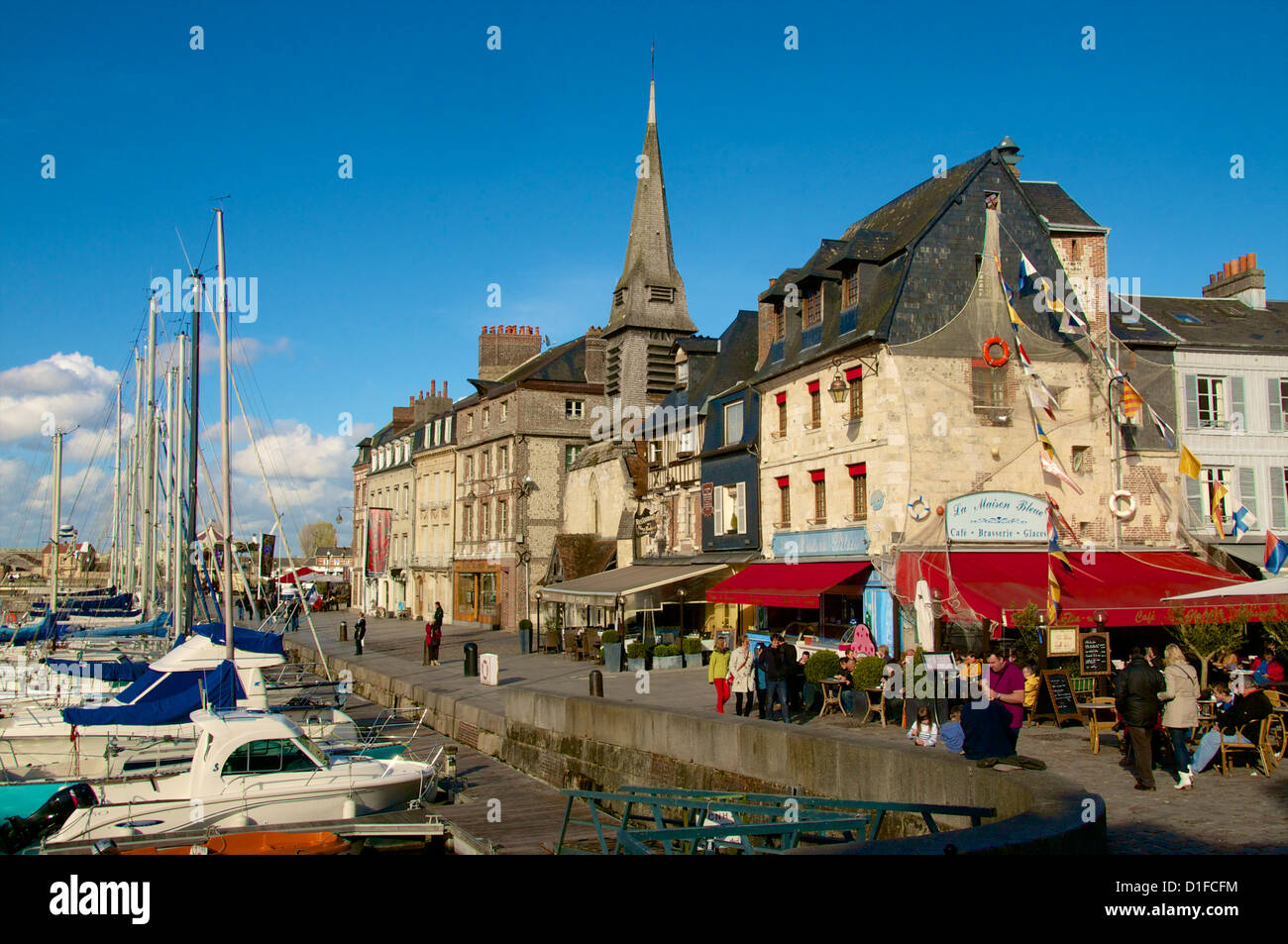 Naval Museum in the ancient Saint Etienne church, on the quay along the Vieux Bassin, Honfleur, Calvados, Normandy, - Stock Image