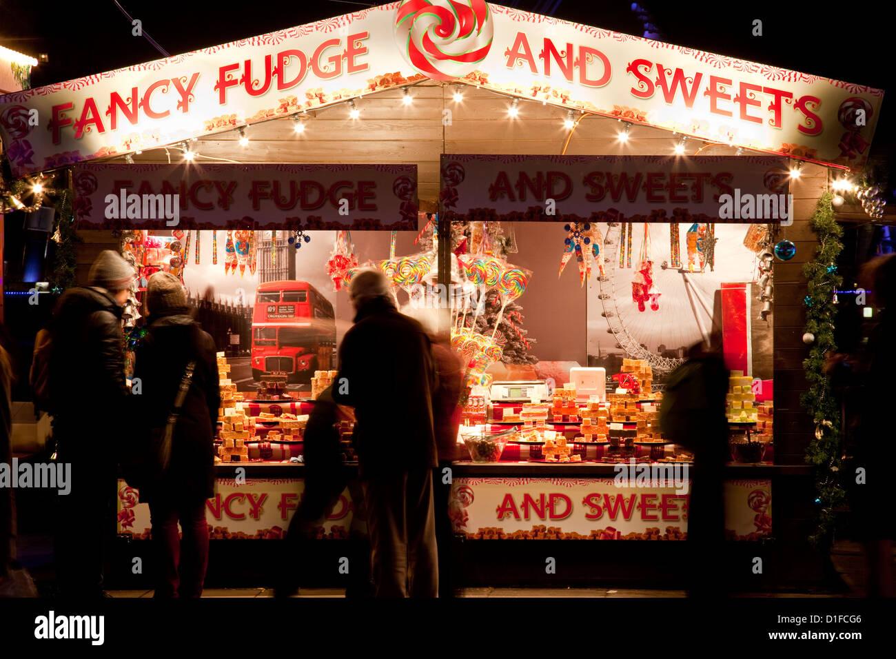 The Southbank Centre Christmas Market; London, England - Stock Image
