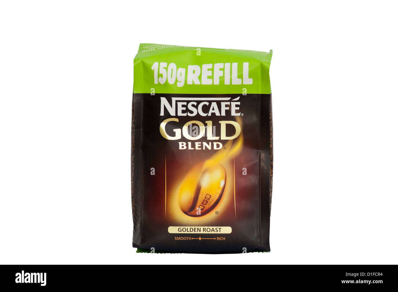 Packet Of Nescafe Gold Blend Coffee Refill - Stock Image