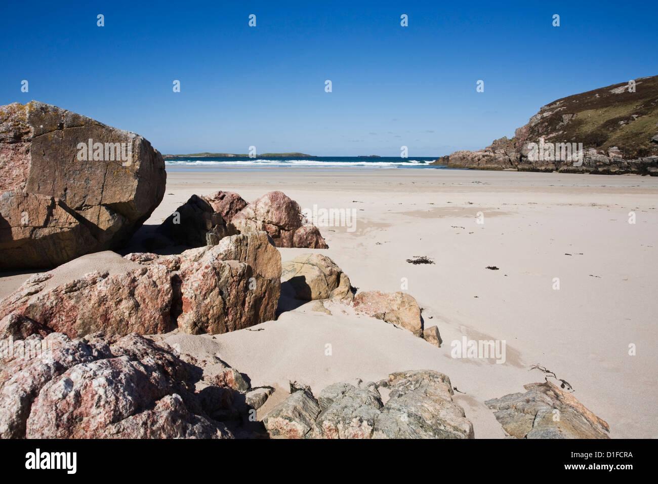 Ceannabeinne Bay, near Durness, Sutherland, Scotland, United Kingdom, Europe Stock Photo