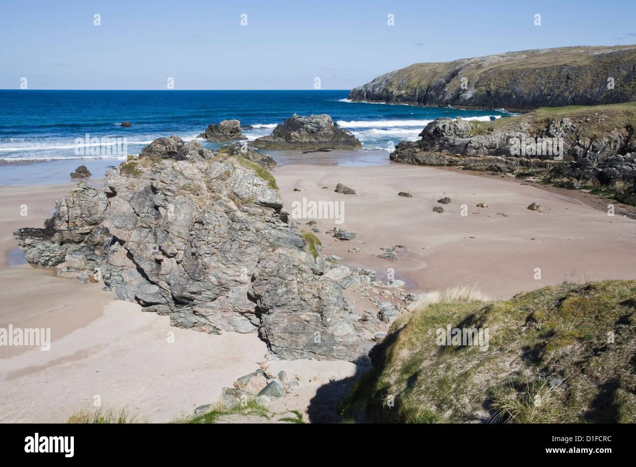 Sango Bay, Durness, Sutherland, Scotland, United Kingdom, Europe - Stock Image