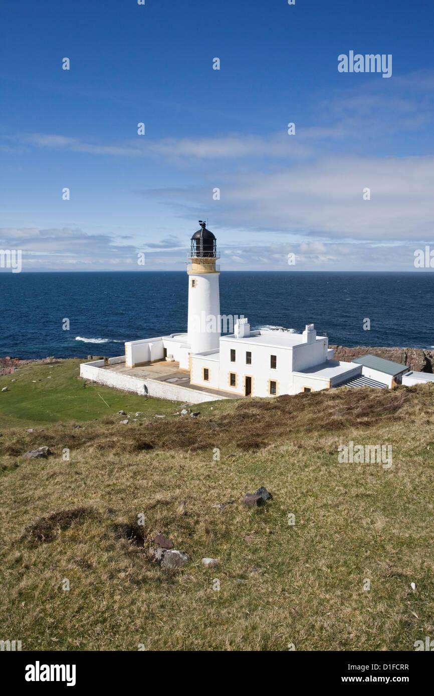 Rudha Reidt Lighthouse, Wester Ross, Highlands, Scotland, United Kingdom, Europe - Stock Image