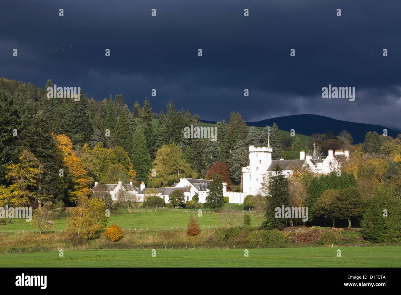 Blair Atholl Castle, Blair Atholl, Perthshire, Scotland, United Kingdom, Europe - Stock Image