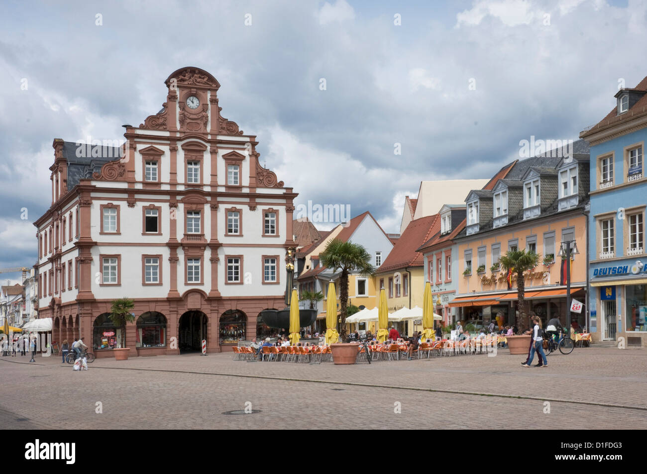 The Town Hall in the main square, Speyer, Rhineland Palatinate, Germany, Europe - Stock Image