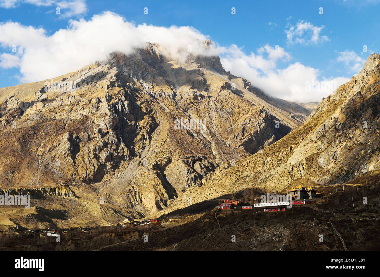 Muktinath Valley, Annapurna Conservation Area, Mustang District, Dhawalagiri, Western Region (Pashchimanchal), Nepal - Stock Image