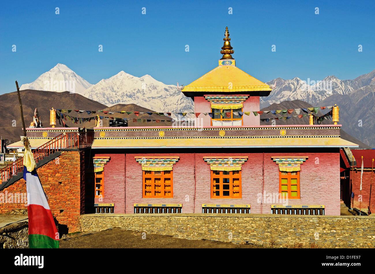 Muktinath and Dhaulagiri Himal, Annapurna Conservation Area, Dhawalagiri (Dhaulagiri), Western Region (Pashchimanchal), - Stock Image