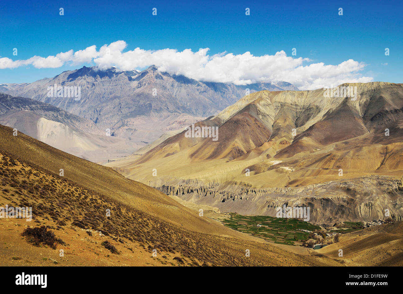 Muktinath Valley and Muktinath Himal, Annapurna Conservation Area, Dhawalagiri, Western Region (Pashchimanchal), - Stock Image