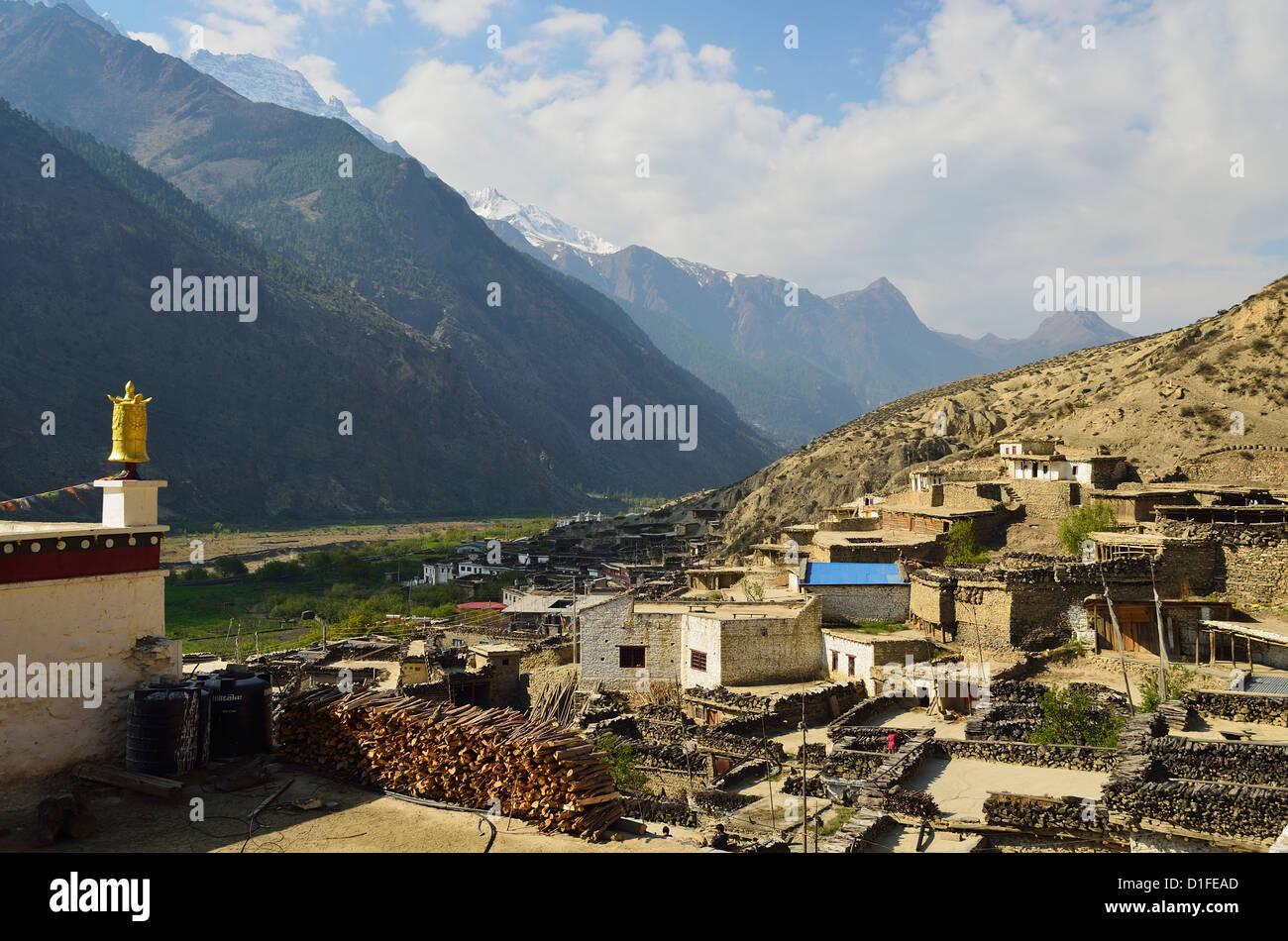 Marpha village, Annapurna Conservation Area, Mustang District, Dhawalagiri (Dhaulagiri), Western Region (Pashchimanchal), - Stock Image