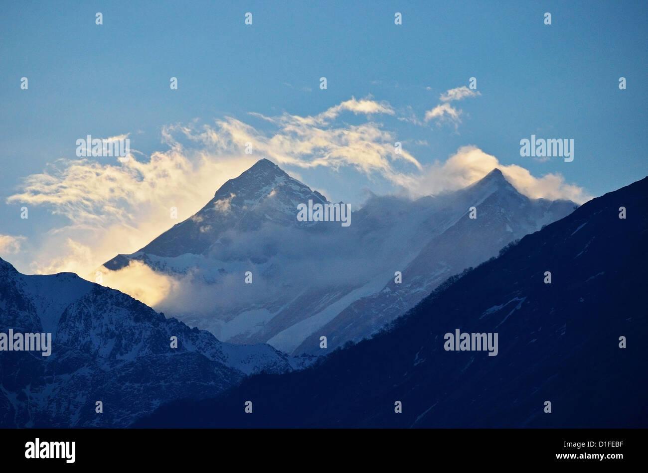 Annapurna Himal seen from Titi, Annapurna Conservation Area, Dhawalagiri (Dhaulagiri), Western Region (Pashchimanchal), - Stock Image