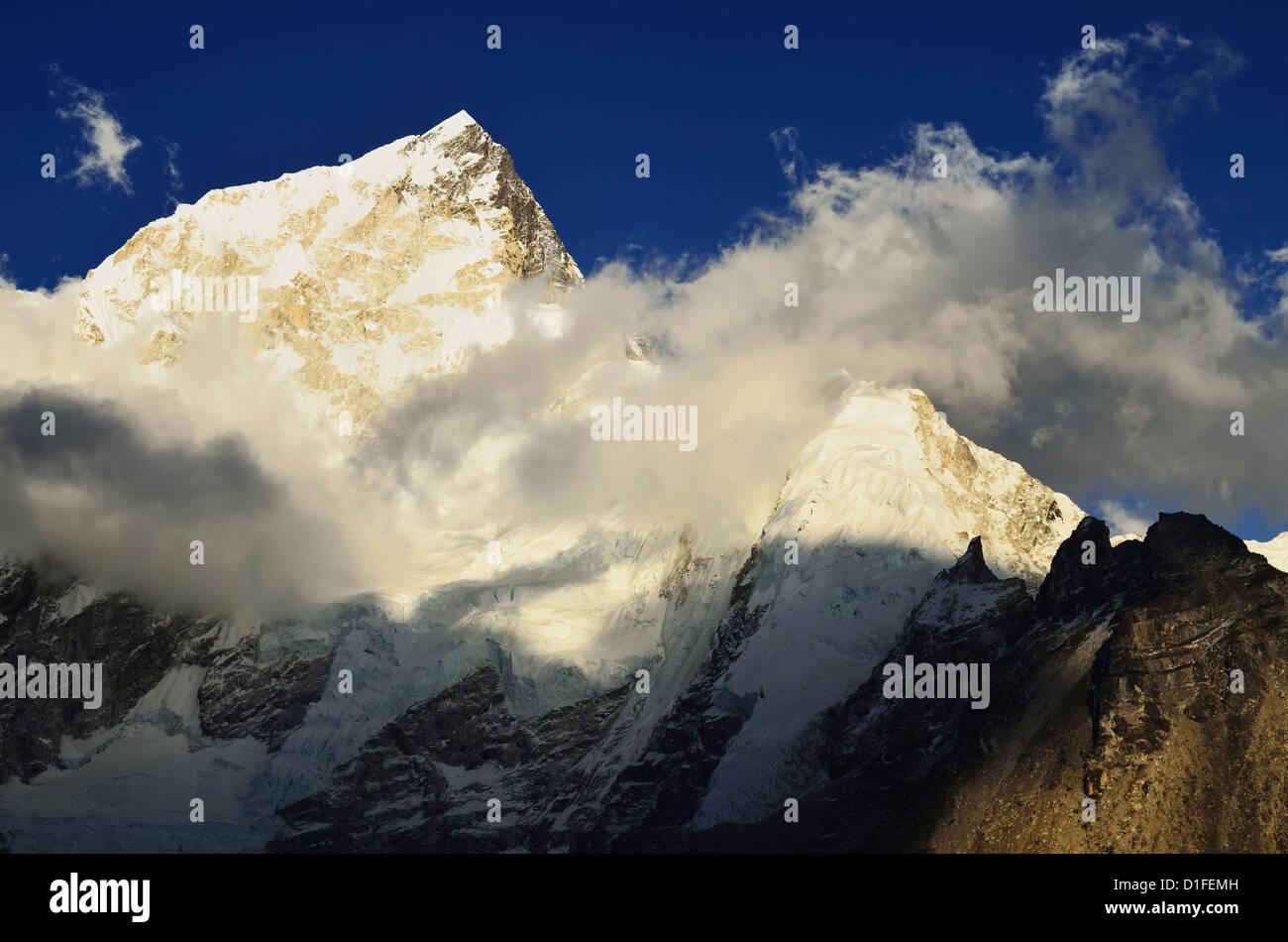 Nuptse seen from Kala Patthar, Sagarmatha National Park, Solukhumbu District, Sagarmatha, Eastern Region (Purwanchal), - Stock Image